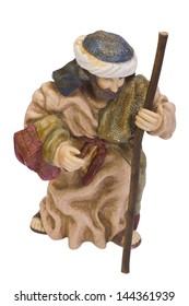Close-up of a figurine of Saint Joseph
