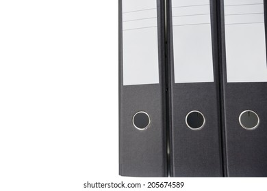 Close-up of file folder over white background