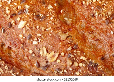 A close-up of five grain bread