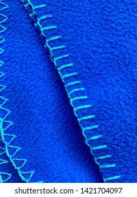 Closeup of a fleece fabric