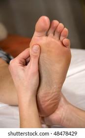 Mature womans feet