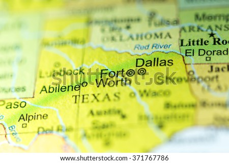 Closeup Fort Worth Texas On Political Stock Photo (Edit Now ...