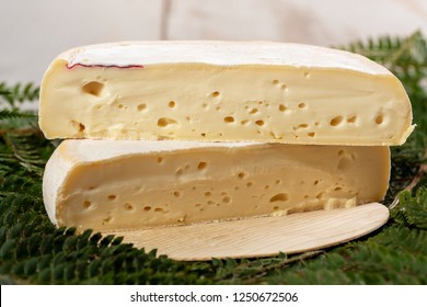 a closeup of french cheese reblochon, Savoie product