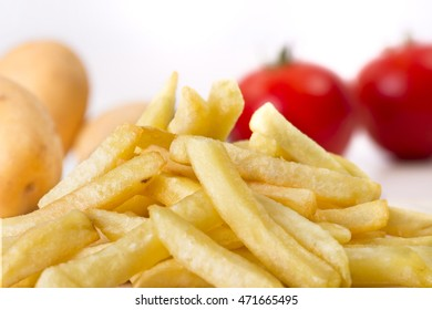 closeup french fries