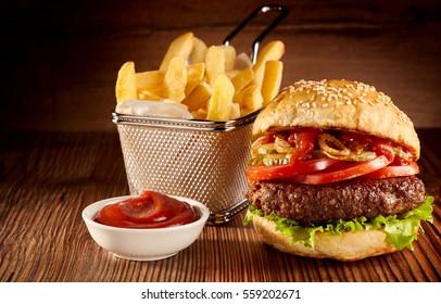 Hamburger Ketchup Images, Stock Photos & Vectors | Shutterstock