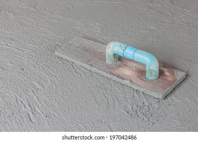 Close-up fresh concrete on site construction