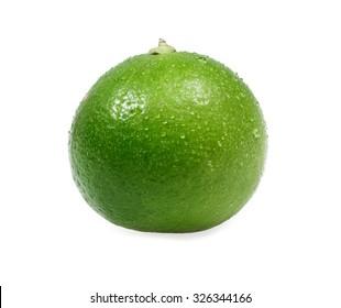 closeup  fresh Lime on white background
