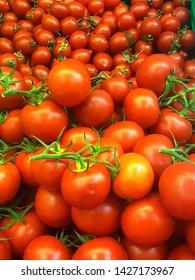 closeup of fresh organic healthy tomatoes mersin turkey