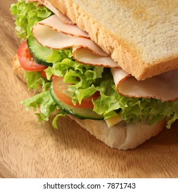 Close-up of a fresh sandwich