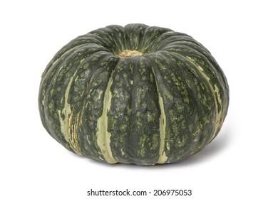 closeup of fresh sweet pumpkin, isolated on white