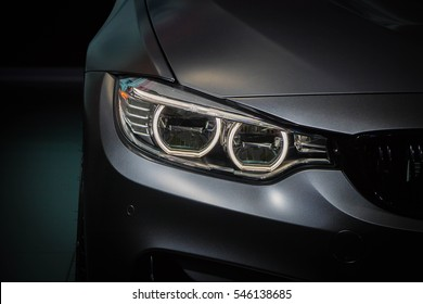 The Closeup Front Headlight car