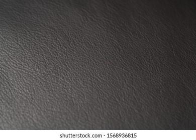 Closeup of full grain dark brown leather