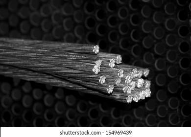 CLose-up galvanized steel wire