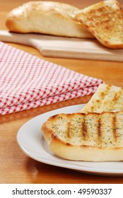 closeup garlic bread