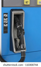 Close-up of a gas pump