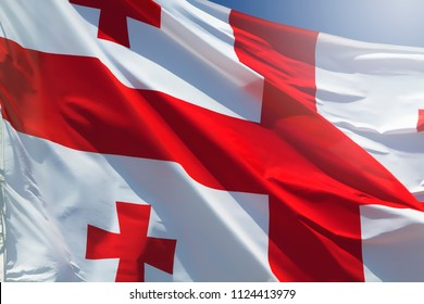 Closeup georgian flag.