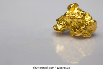 Close-up of a gold-nugget