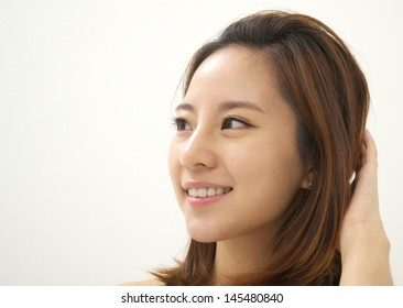 Close-up of a gorgeous young woman