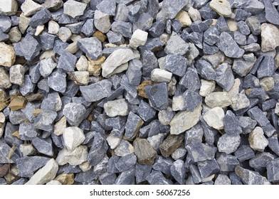 close-up of granite gravel background
