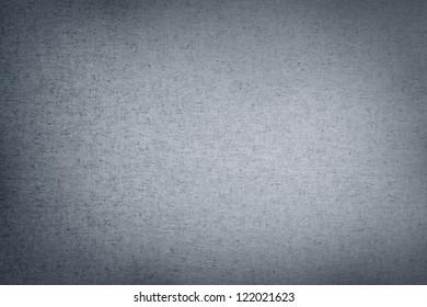 Closeup of grey canvas texture