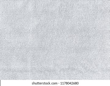 Closeup Grey color cleaning rag microfiber cloth background. Detail sample clean fabric texture backdrop.