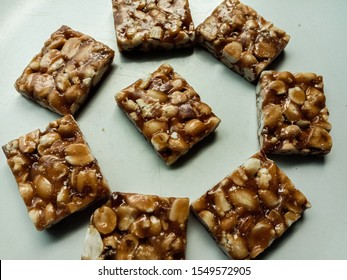 A closeup of groundnut chikki image for your project.