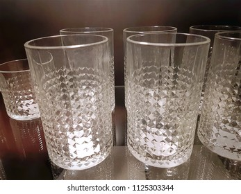 Close-up Group of Drinking Glasses