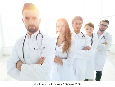 closeup .group of medical workers
