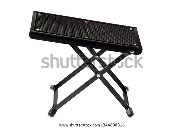 Stupendous Closeup Guitar Foot Stool Rest Isolated Stock Photo Edit Evergreenethics Interior Chair Design Evergreenethicsorg
