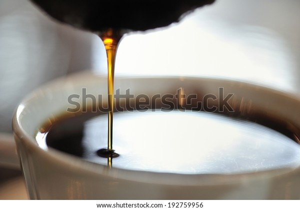 close-up of hand drip coffee