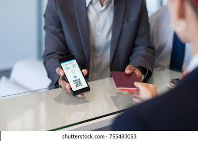 Person checking phone