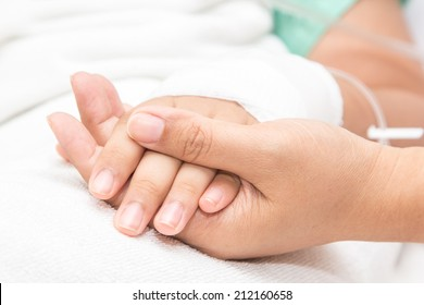 closeup Hands of patients
