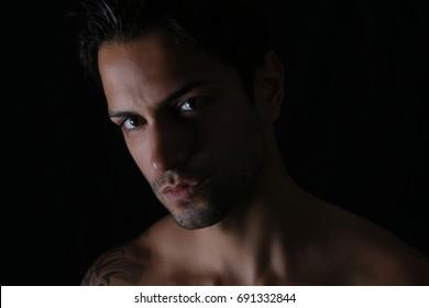 closeup of an handsome man