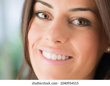 Close-up Of Happy Young Woman, Indoors