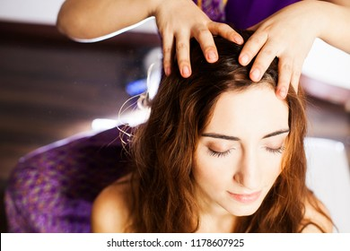 Close-up head massage