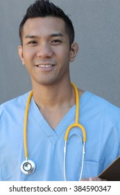 Closeup head shot portrait of confident healthcare professional