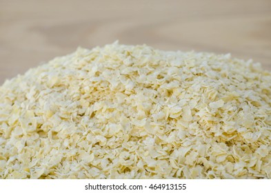 closeup to heap of nutritional yeast