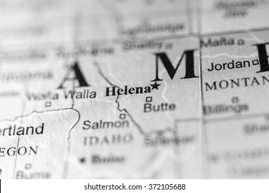 Map Of Helena Montana Stock Photos, Images & Photography   Shutterstock