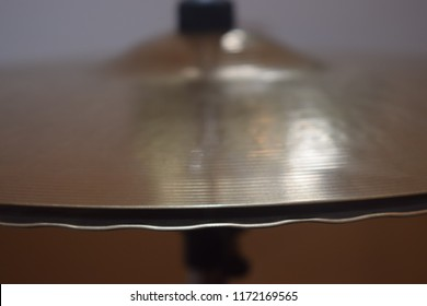 Close-up of hi-hat on drums percussion instrument