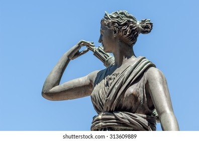 "Close-up of the historic statue ""Artemis"" in Marseille in South France"