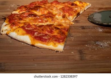 Closeup of homemade pizza