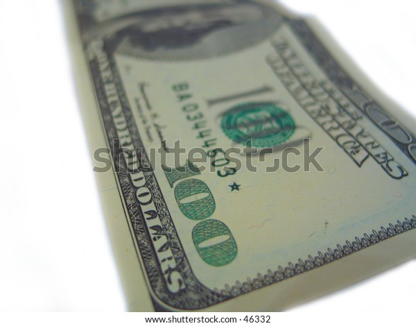 a closeup of a hundred dollar bill