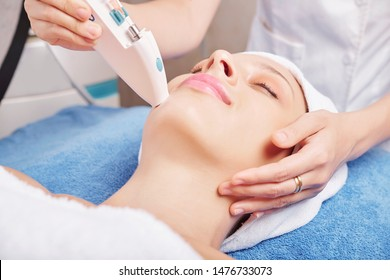 Close-up image of beautician making injections of skin boosters with vitamins