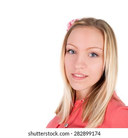 closeup image of the beautiful blond girl