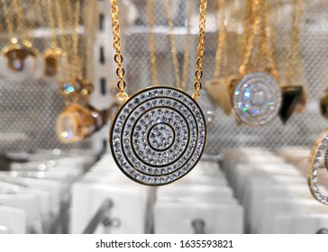 Closeup Image Of Beautiful Gold Covered Locket