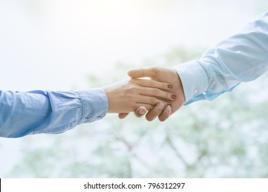 Close-up image of business colleagues shaking hands