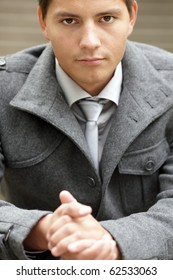 Closeup image of businessman hands