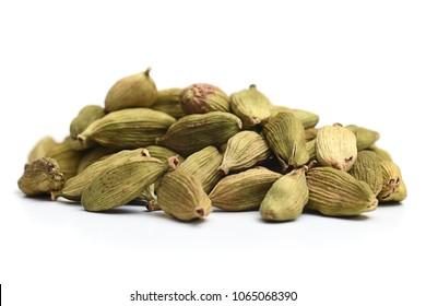 Close-up image of cardamom, on white background