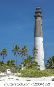 Close-up image of a dry Tortugas lighthouse