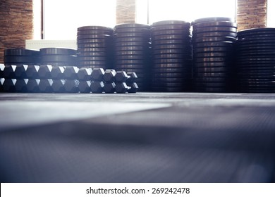 Closeup image of a fitness gym